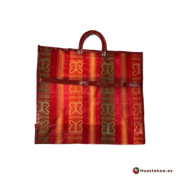Bolsa Mexicana de Mercado Clásicas Mariposas Rojizo - Tienda Huastekoo España - H00170
