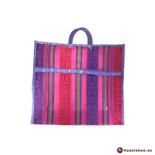 Bolsa Mexicana de Mercado Clásicas Mariposas Rosadito - Tienda Huastekoo España - H00171