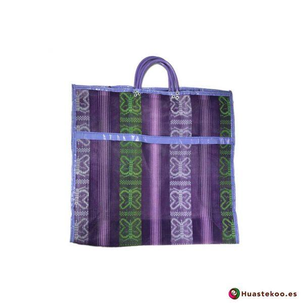 Bolsa Mexicana de Mercado Clásicas Mariposas Verde Violeta - Tienda Huastekoo España - H00173