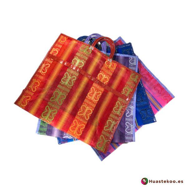 Bolsas Mexicanas de Mercado Clásicas Mariposas - Tienda de Artesanía y Regalos Mexicanos - Huastekoo España - H00170-173