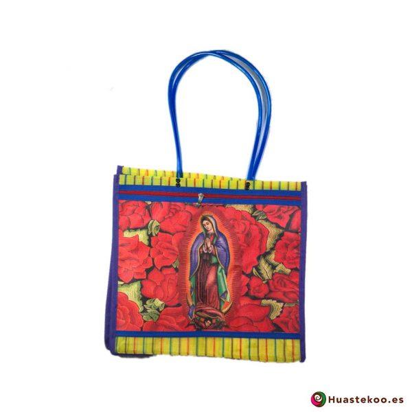 """Bolsa Mexicana de Mercado """"Virgen de Guadalupe"""" Flores - Tienda Huastekoo España - H00139"""