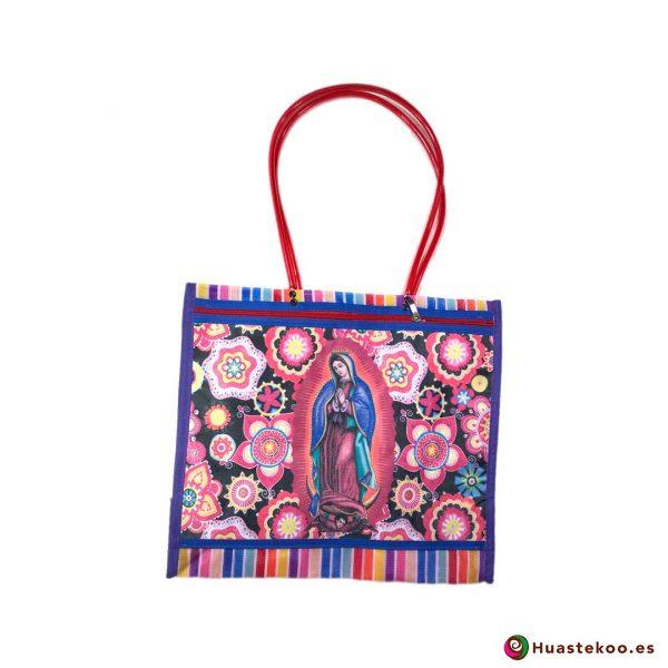"""Bolsa Mexicana de Mercado """"Virgen de Guadalupe"""" Flores - Tienda Huastekoo España - H00141"""