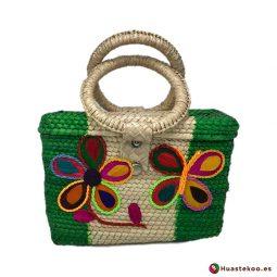 Bolso artesanal mexicano de palma natural y hojas de maíz hecho a mano - Tienda Mexicana Online - Huastekoo.es - H00278