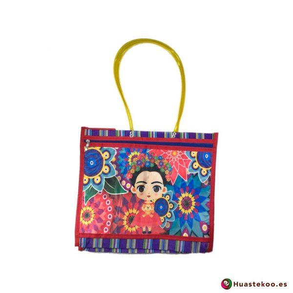 "Bolso de mercado mexicano ""Fridalia"" Violeta - Tienda Mexicana Huastekoo España - H00145"