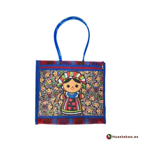 Bolso mexicano de mercado María Reblu - Tienda Mexicana Online - Huastekoo España - H00135