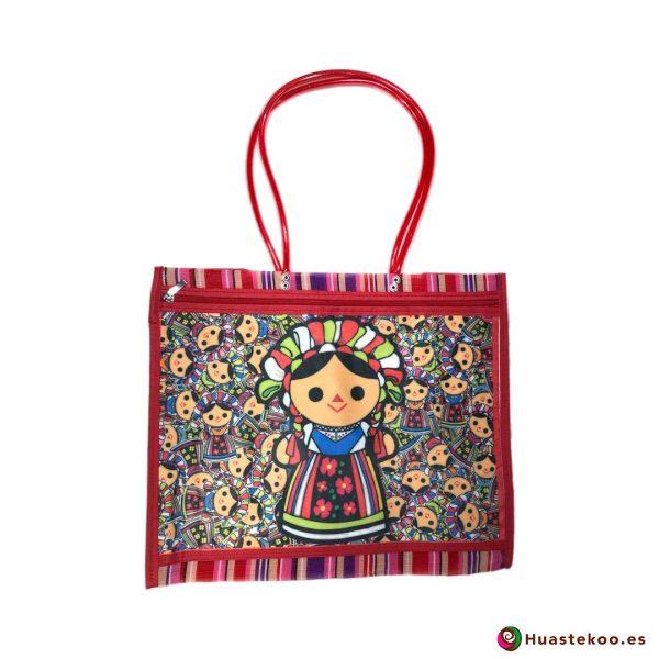 Bolso mexicano de mercado María Red - Tienda Mexicana Online - Huastekoo España - H00136