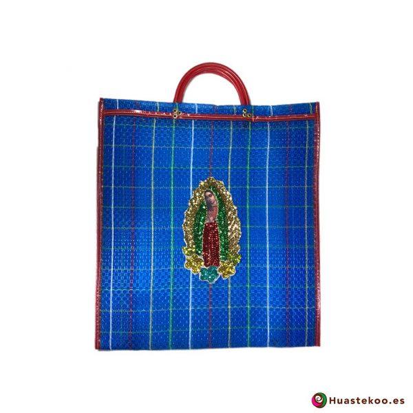 """Bolso Mexicano de Moda """"Guadalupe Lentejuela"""" Azul - Tienda Huastekoo España - H00178"""