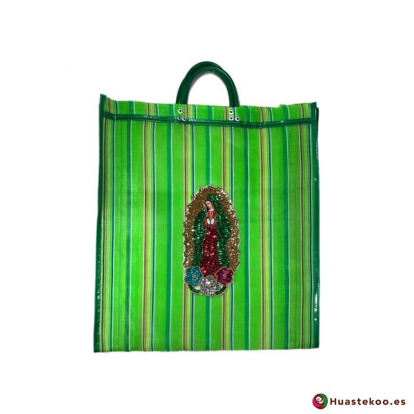 "Bolso Mexicano de Moda ""Guadalupe Lentejuela"" Verde - Tienda Huastekoo España - H00179"