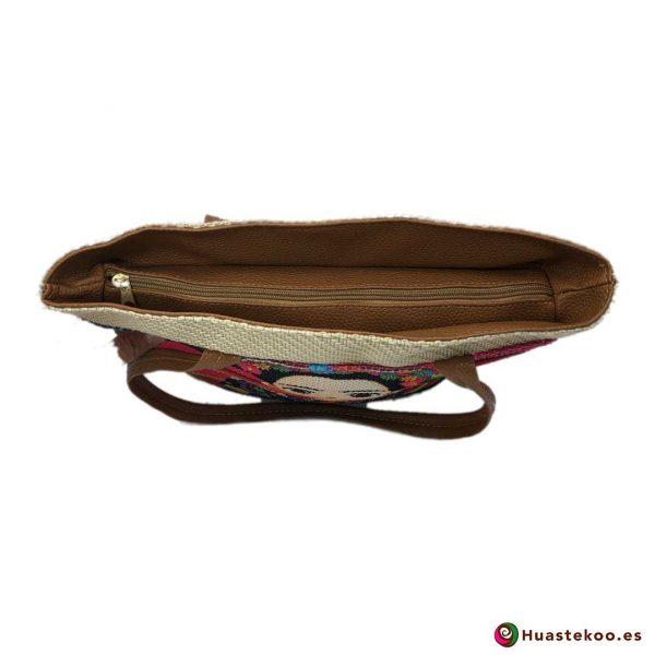 Bolso mexicano de yute estilo Frida - Tienda Mexicana Online - Huastekoo.es - H00131 - 3