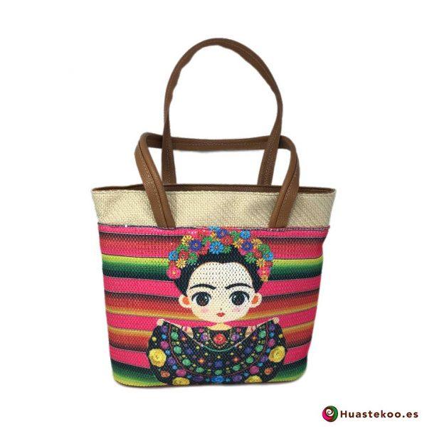 Bolso mexicano de yute estilo Frida - Tienda Mexicana Online - Huastekoo.es - H00131