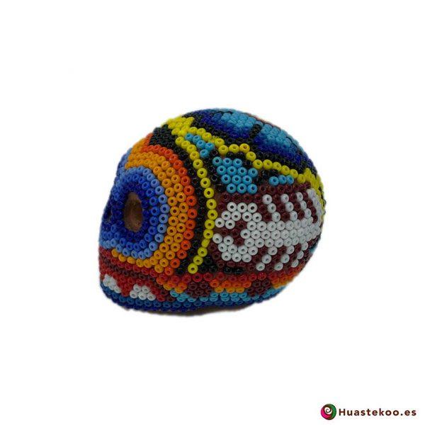 Calavera de Arte Huichol Pequeña - Artesanía Mexicana en España - Huastekoo.es - H00567 - 2