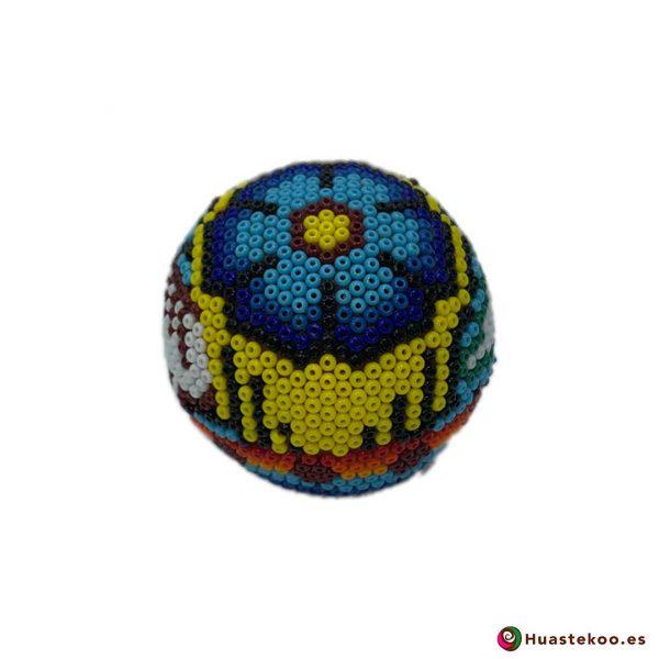 Calavera de Arte Huichol Pequeña - Artesanía Mexicana en España - Huastekoo.es - H00567 - 3