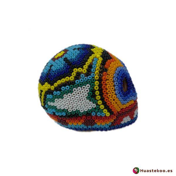 Calavera de Arte Huichol Pequeña - Artesanía Mexicana en España - Huastekoo.es - H00567 - 4