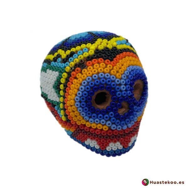Calavera de Arte Huichol Pequeña - Artesanía Mexicana en España - Huastekoo.es - H00567 - 5
