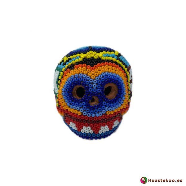 Calavera de Arte Huichol Pequeña - Artesanía Mexicana en España - Huastekoo.es - H00567