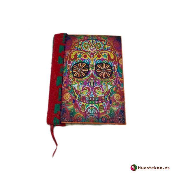 Libreta mexicana artesanal hecha a mano Calavera - Tienda Huastekoo España - H00102