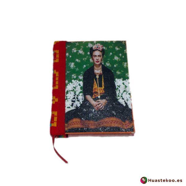 Libreta mexicana artesanal hecha a mano Frida Roja - Tienda Huastekoo España - H00104