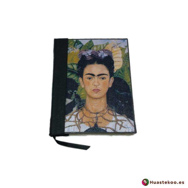 Libreta mexicana artesanal hecha a mano Frida Negra - Tienda Huastekoo España - H00105
