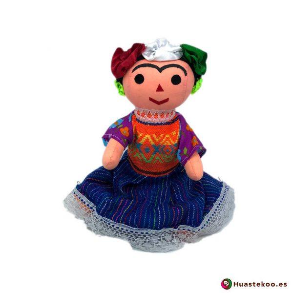 "Muñeca artesanal tradicional mexicana de trapo ""Frida"" ver - Tienda Mexicana Online - Huastekoo España - H00597"