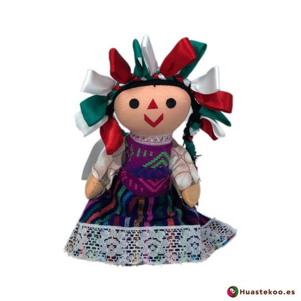 """Muñeca artesanal mexicana de trapo """"María"""" tux - Tienda Mexicana Online - Huastekoo España - H00595"""