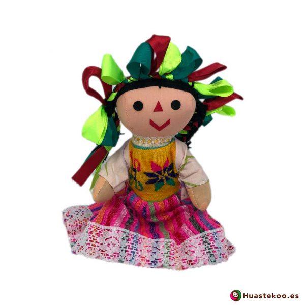 """Muñeca artesanal mexicana de trapo """"María"""" ver - Tienda Mexicana Online - Huastekoo España - H00596"""