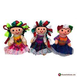 Muñecas tradicionales artesanales mexicanas - Tienda de Artesanía Huastekoo España - H00595-597