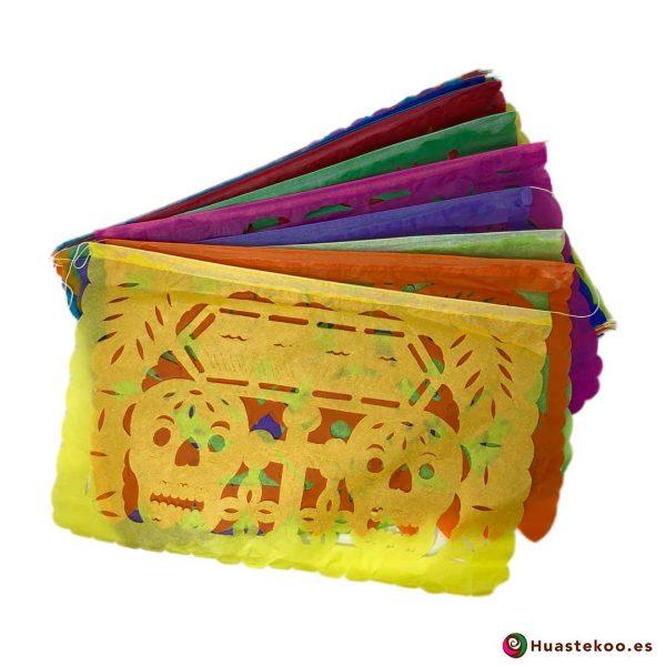 Comprar papel picado mexicano día de muertos calaveras en la tienda de artesanía mexicana Huastekoo España - H00428