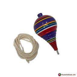 Trompo mexicano de madera hecho a mano - Tienda de Artesanías y Regalos Mexicanos - Huastekoo España - H000071