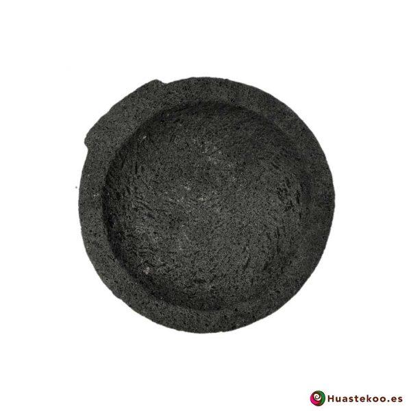 Molcajete (mortero) mexicano de piedra volcánica Ref. H00649 - Tienda Mexicana Online Huastekoo España - 3