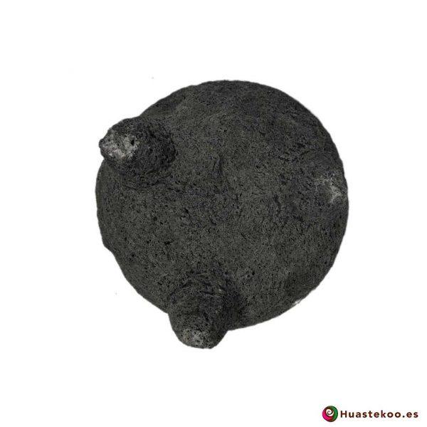 Molcajete (mortero) mexicano de piedra volcánica Ref. H00649 - Tienda Mexicana Online Huastekoo España - 4