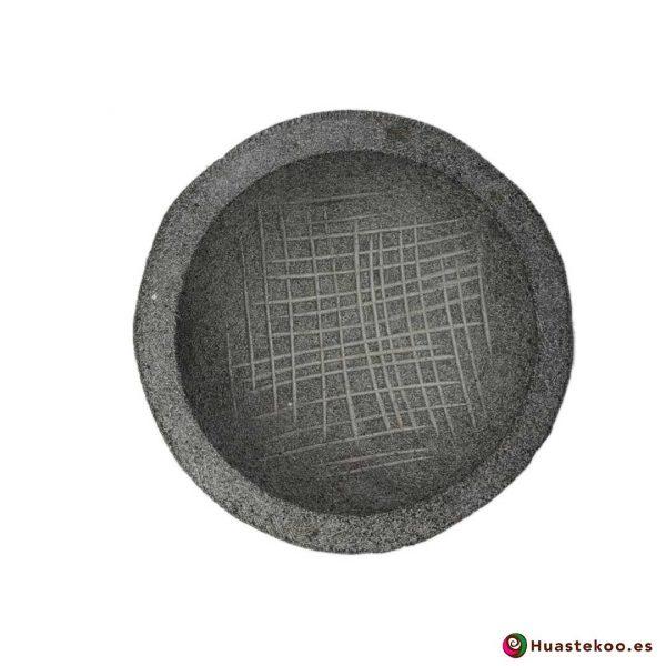 Molcajete mexicano de piedra - Tienda Mexicana Online - Huastekoo.es - Ref. H00650 - 3