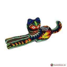 Figura decorativa de Gato Arte Huichol - Tienda Mexicana Online - Huastekoo España y Europa - H00761