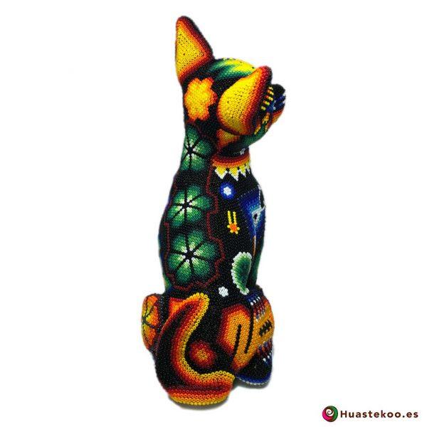 Fugura decorativa perro Chihuahua de Arte Huichol - Tienda Mexicana Online - Huastekoo España y Europa - H00560 - 4