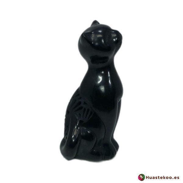 Gato de barro negro o cerámica negra de la tienda mexicana online Huastekoo España y Europa - H00720 - 4