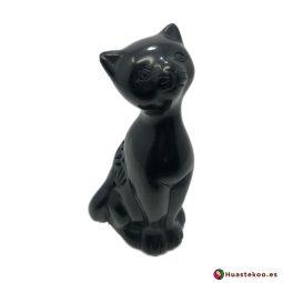 Gato de barro negro o cerámica negra de la tienda mexicana online Huastekoo España y Europa - H00720