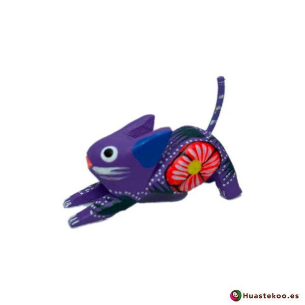 Alebrije Mexicano Miniatura Gato - Tienda de Artesanía y Regalos Mexicanos - Huastekoo España y Europa - H00503