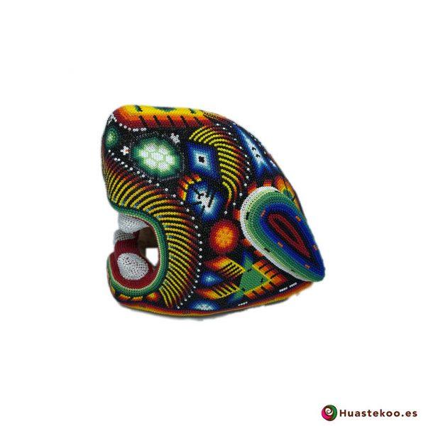 Cabeza Jaguar Arte Huichol - Tienda de Artesanía y Regalos Mexicanos - Huastekoo España y Europa - H00764 - 3