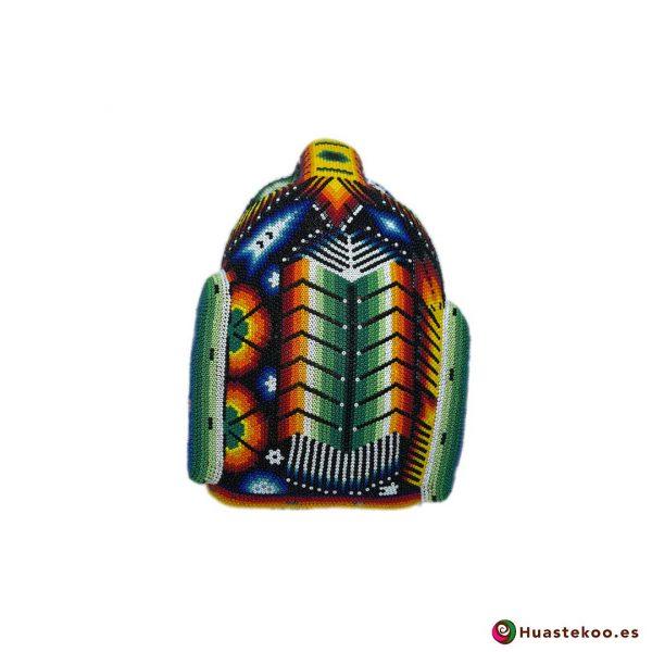 Cabeza Jaguar Arte Huichol - Tienda de Artesanía y Regalos Mexicanos - Huastekoo España y Europa - H00764 - 4