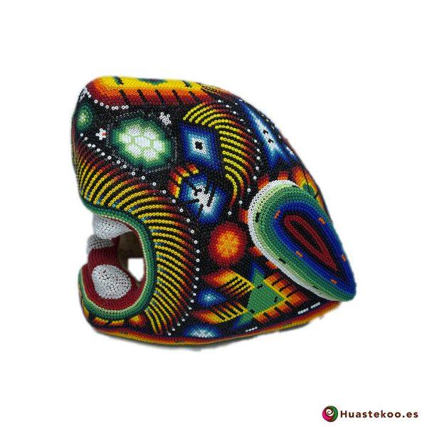 Cabeza Jaguar Arte Huichol - Tienda de Artesanía y Regalos Mexicanos - Huastekoo España y Europa - H00764 - 6