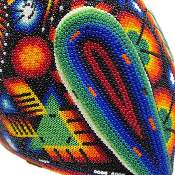 Cabeza Jaguar Arte Huichol - Tienda de Artesanía y Regalos Mexicanos - Huastekoo España y Europa - H00764 - 7