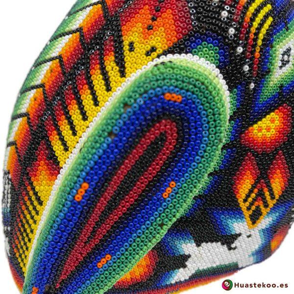 Cabeza Jaguar Arte Huichol - Tienda de Artesanía y Regalos Mexicanos - Huastekoo España y Europa - H00764 - 8