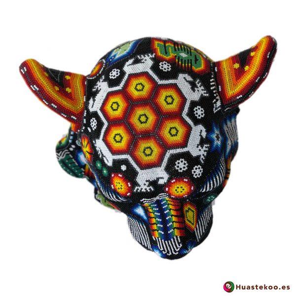 Cabeza de Pantera en Arte Huichol (Wixárika) - Tienda de Artesanía y Regalos Mexicanos - Huastekoo España y Europa - H00765 - 5
