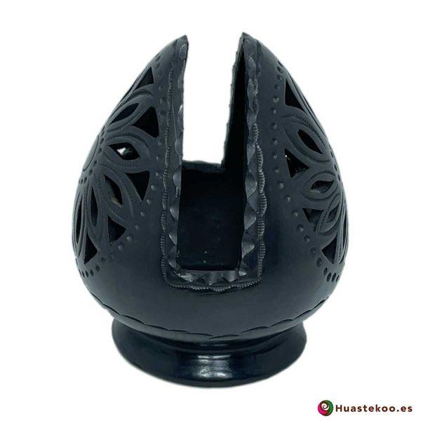Servilletero de Barro Negro (Cerámica Negra) - Tienda Mexicana - Huastekoo España y Europa - H00740 - 4