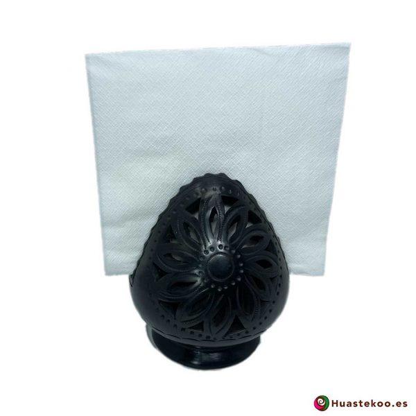 Servilletero de Barro Negro (Cerámica Negra) - Tienda Mexicana - Huastekoo España y Europa - H00740 - 5
