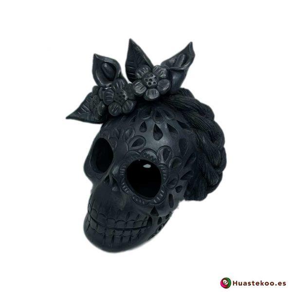 Calavera (Cráneo) Barro Negro Fridalia - Tienda de Regalos Mexicanos en España y Europa - H00737 - 2