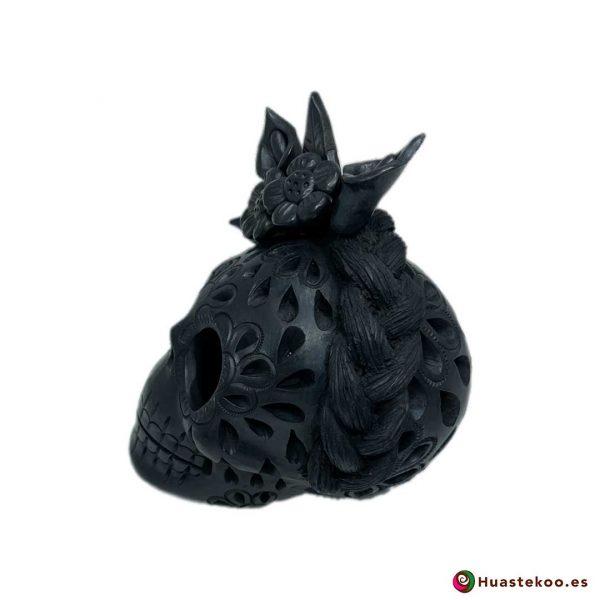 Calavera (Cráneo) Barro Negro Fridalia - Tienda de Regalos Mexicanos en España y Europa - H00737 - 3