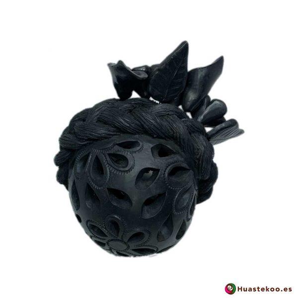 Calavera (Cráneo) Barro Negro Fridalia - Tienda de Regalos Mexicanos en España y Europa - H00737 - 4