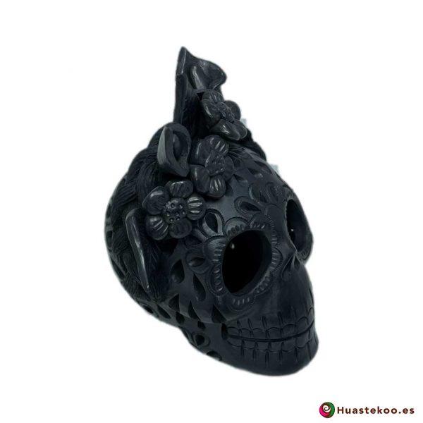 Calavera (Cráneo) Barro Negro Fridalia - Tienda de Regalos Mexicanos en España y Europa - H00737 - 6