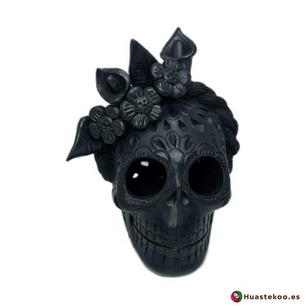 Calavera (Cráneo) Barro Negro Fridalia - Tienda de Regalos Mexicanos en España y Europa - H00737