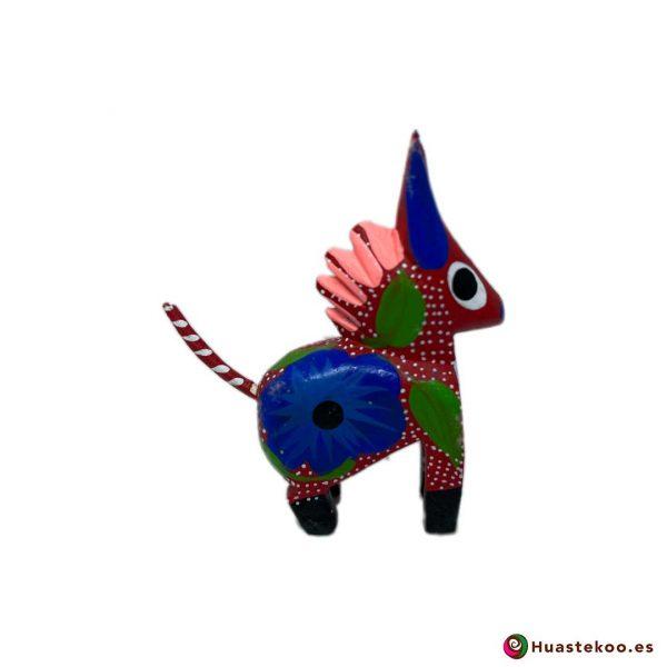 Alebrije mexicano miniatura modelo Burrito - Tienda Mexicana Online Huastekoo España y Europa - H00502 - 2